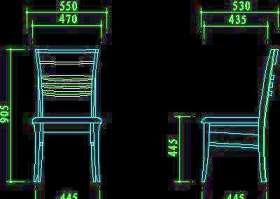 椅子图块-cad家具图块32款23