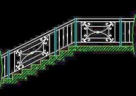 木楼梯、铁艺楼梯、旋转楼梯、现代式楼梯、楼梯扶手CAD图块33