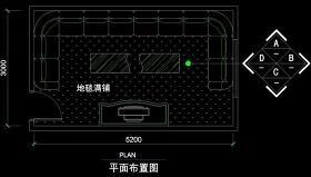 ktv包厢cad设计素材图片