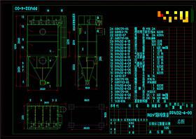 袋式除塵器總圖CAD機械圖紙