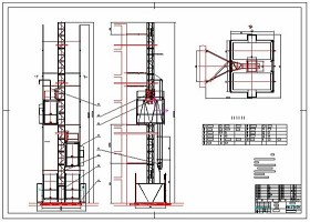 施工升降机CAD详图