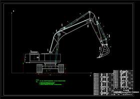挖掘机装配图CAD机械图纸