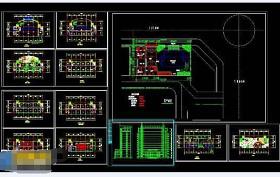 某银行办公区cad施工设计方案图纸