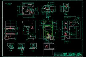 一种钻床齿轮箱CAD图纸