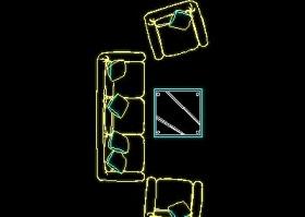 沙发平面图块cad家具图块素材20080918更新5