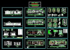 一套完整的办公楼建筑施工图