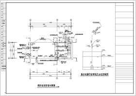 某地小區消防泵房給排水設計施工圖