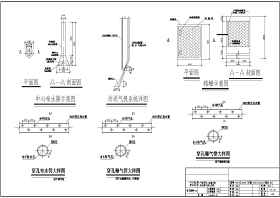 外高桥污水处理站各设施建筑结构设计图