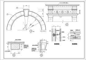 医院大门建筑结构图