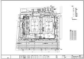 南京某体育馆(篮球馆)建筑给排水施工图