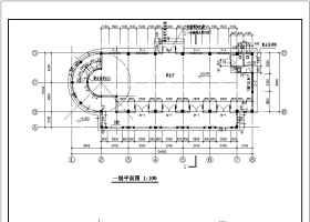 西班牙風格售樓處建筑設計施工CAD圖紙