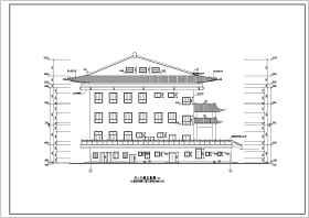 某四层框架结构古建筑楼设计施工图