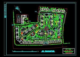 某小区建筑景观总体规划平面图
