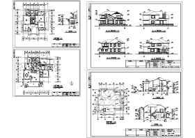 2017最新50套超赞的别墅施工图(含效果图、两层、两层半、三层、三层半)