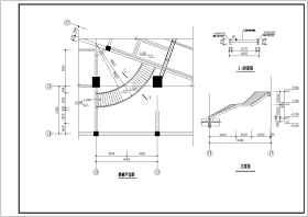某地區全鋼弧形樓梯結構設計施工圖紙