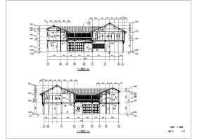 江南某地2层框架结构仿古建筑设计施工图