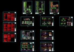 23万平大型超高层甲级办公商业楼全套弱电设计图纸(含弱电机房)