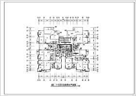 某小区二十五层框架结构给排水消防设计图