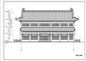 某地多层框架结构仿古建筑设计施工图纸