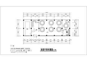 西式餐厅建筑设计施工CAD图纸