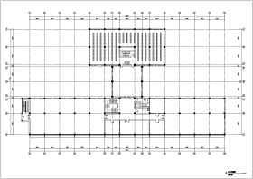 某地多層圖書館建筑平面方案設計圖