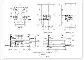 已有建筑加电梯改造工程结构设计施工图