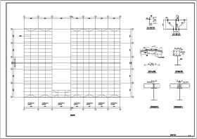 某地多層鋼框架結構廠房結構施工圖