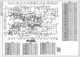 重慶市十九層框剪結構商住樓結構施工圖