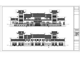 重庆市某地多栋框架结构仿古建筑设计施工图纸