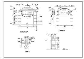 某地5个仿古风格亭子建筑设计施工图
