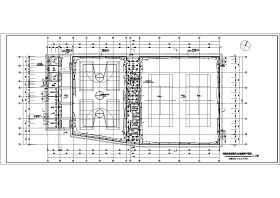 某县城单层体育馆电气设计施工图(强电)