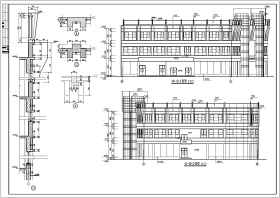 某地三层框架结构商场楼结构施工图