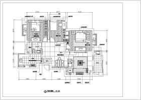 某三室两厅家庭住宅装修施工图纸