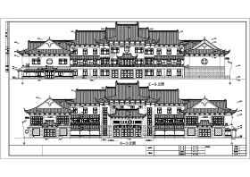 镇江某三层仿古商办楼建筑设计方案图纸