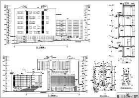 某地六層框架結構圖書館建筑設計施工圖紙