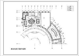 酒店装修全套施工CAD设计图