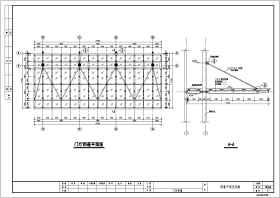 某地钢结构雨棚节点详图设计施工图纸