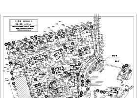 某别墅区规划总图及景观设计