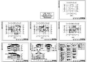 豪华G型别墅施工图及效果图
