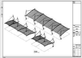 【2016最新】6米汽车棚膜结构施工图纸