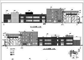 某地局部四层框架结构汽车4S店建筑设计施工图纸