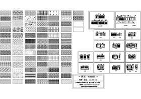 办公楼装饰立面图+纹理填充图块