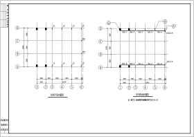 某工厂50T重钢结构车间结构设计施工图纸