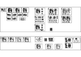 中国古典别墅施工图