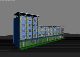 沿街商业建筑3D模型