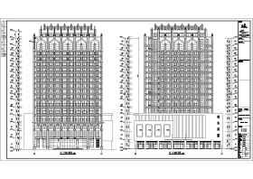 沈阳法库市某17层框架结构酒店建筑设计施工图
