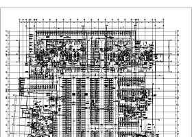 某住宅小区地下车库通风施工设计图纸