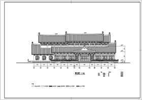 某地三層框架結構仿古圖書館建筑施工圖