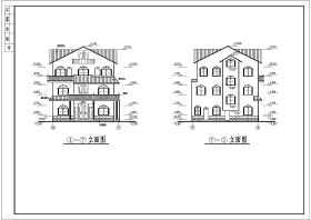 某三層別墅建筑、結構設計施工圖紙