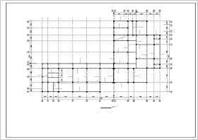 蜂巢芯空心楼盖框架教学楼结构cad施工图